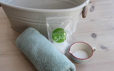 Fod- eller karbad i Epsom salt